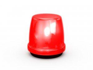 Flashing Light Red
