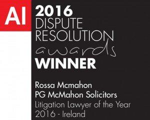 Rossa Mcmahon-Litigation Lawyer of the Year 2016 - Ireland