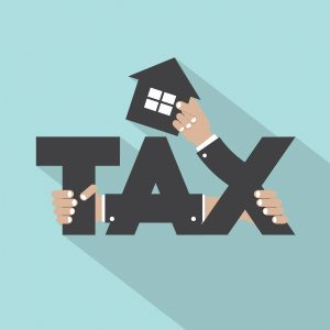 Home Tax Typography Design.